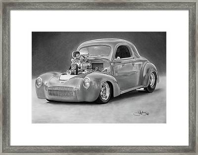 1940 Willy's Coupe Framed Print by John Harding