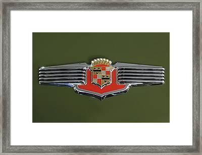 1941 Cadillac 62 Emblem Framed Print by Jill Reger