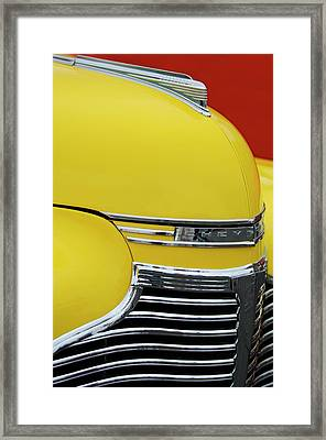 1941 Chevrolet Sedan Hood Ornament 2 Framed Print by Jill Reger