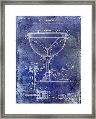 1941 Ludwig Drum Patent Blue Framed Print by Jon Neidert