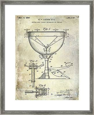 1941 Ludwig Drum Patent  Framed Print by Jon Neidert