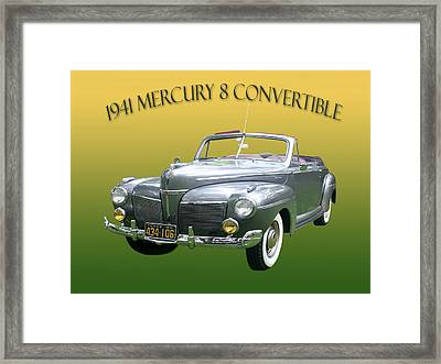 1941 Mercury Eight Convertible Framed Print by Jack Pumphrey
