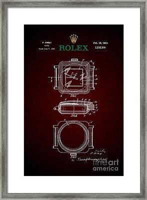 1941 Rolex Watch Patent 4 Framed Print by Nishanth Gopinathan