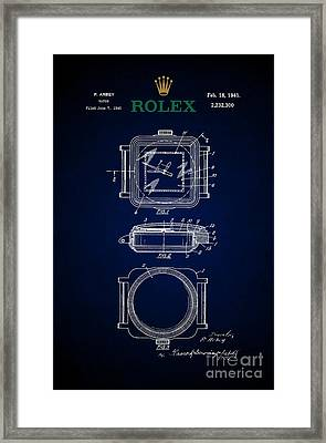 1941 Rolex Watch Patent 5 Framed Print by Nishanth Gopinathan