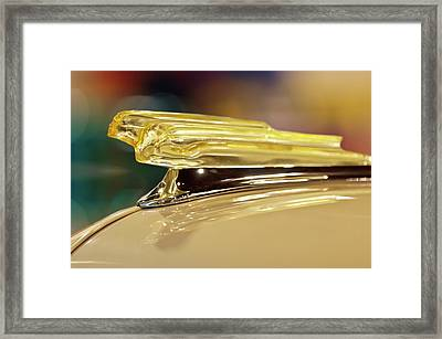 1942 Chevrolet Fleetline Hood Ornament Framed Print by Jill Reger