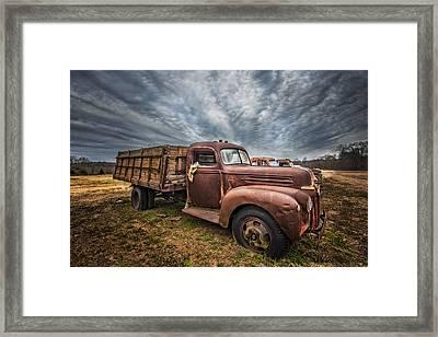 1942 Old Ford Truck Framed Print by Debra and Dave Vanderlaan