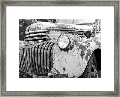 1946 Chevy Work Truck Fender And Grill Framed Print by Jon Woodhams