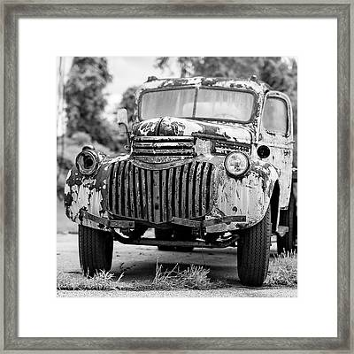 1946 Chevy Work Truck Front Framed Print by Jon Woodhams