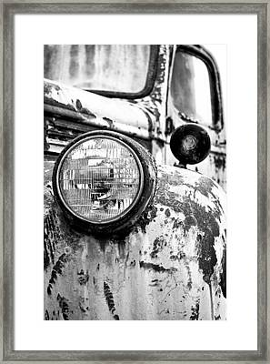 1946 Chevy Work Truck - Headlight Detail Framed Print by Jon Woodhams