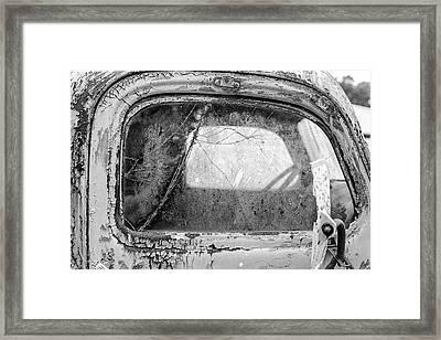 1946 Chevy Work Truck Passenger Window Framed Print by Jon Woodhams