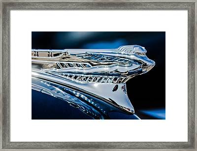 1946 Desoto Hood Ornament Framed Print by Jill Reger