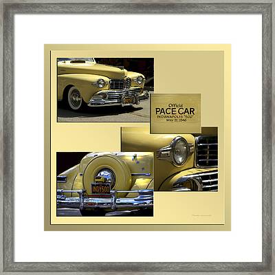 1946 Indy 500 Pace Car Collage Framed Print by Thomas Woolworth