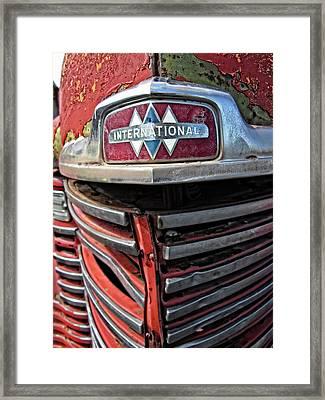 1946 International Harvester Truck Grill Framed Print by Daniel Hagerman