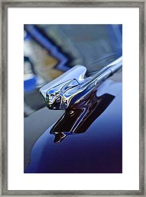 1947 Cadillac 62 Convertible Hood Ornament Framed Print by Jill Reger