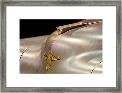 1947 Chrysler Hood Ornament Framed Print by Jill Reger