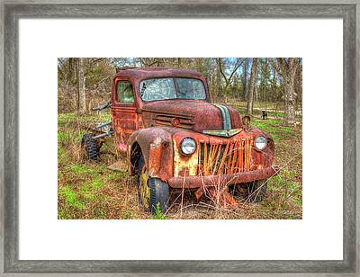 1947 Ford Truck And Friend Framed Print by Reid Callaway