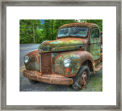 1947 International Harvester Company Truck Framed Print by Reid Callaway