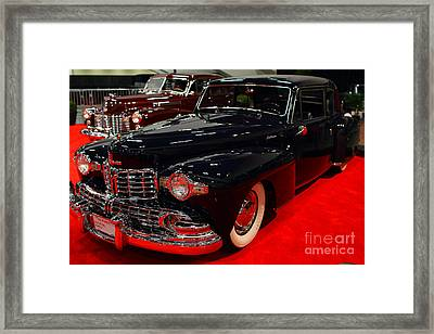 1948 Lincoln Continental Coupe . Deep Blue . 7d9256 Framed Print by Wingsdomain Art and Photography