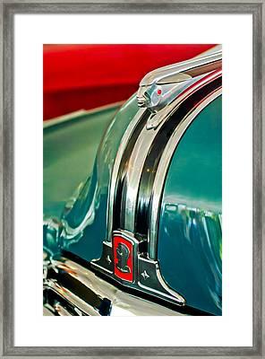 1948 Pontiac Streamliner Woody Wagon Hood Ornament Framed Print by Jill Reger