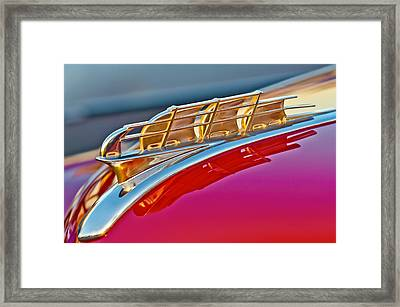 1949 Plymouth Hood Ornament Framed Print by Jill Reger