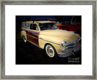 1949 Plymouth Woody Framed Print by Anne Sands