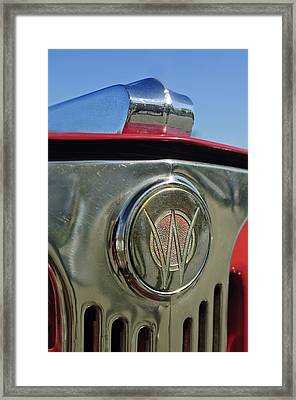 1949 Willys Jeepster Hood Ornament Framed Print by Jill Reger