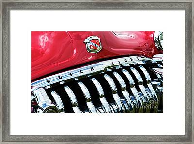 1950 Buick Eight Abstract Framed Print by Tim Gainey