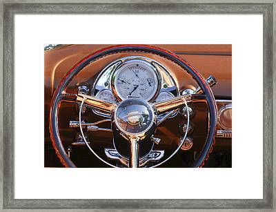 1950 Oldsmobile Rocket 88 Steering Wheel 2 Framed Print by Jill Reger