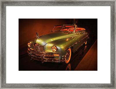 1950 Packard Super Eight  Convertible  Framed Print by John Bartelt