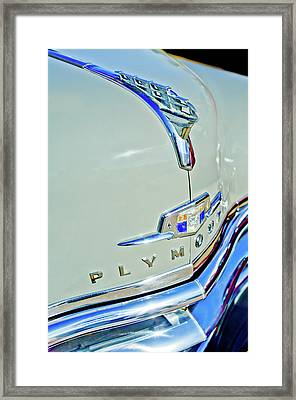 1950 Plymouth Coupe Hood Ornament Framed Print by Jill Reger