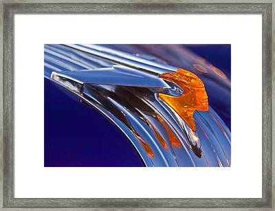 1950 Pontiac Chief Hood Ornament Framed Print by Jill Reger