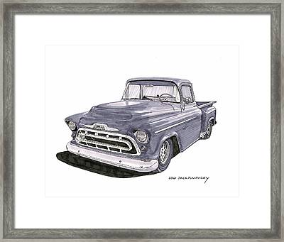 1950 S G M C Pick Up Truck Framed Print by Jack Pumphrey