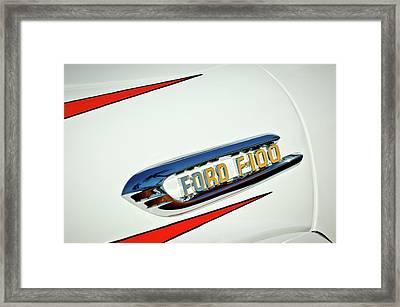 1950's Ford F-100 Fordomatic Pickup Truck Emblem Framed Print by Jill Reger