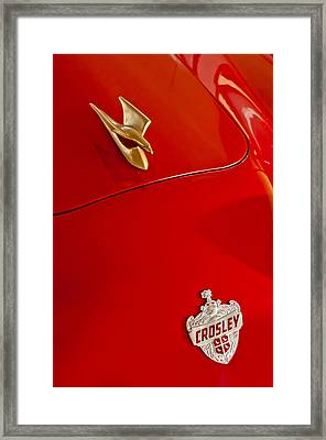 1951 Crosley Hot Shot Hood Ornament Framed Print by Jill Reger