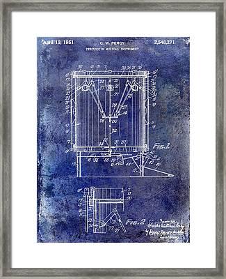 1951 Drum Patent Blue Framed Print by Jon Neidert