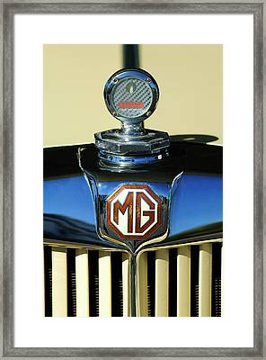 1951 Mg Td Messko Thermometer Hood Ornament Framed Print by Jill Reger