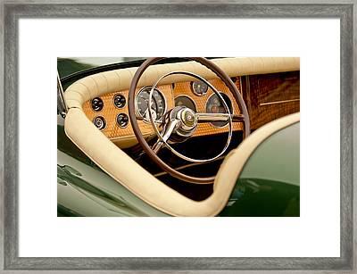 1952 Sterling Gladwin Maverick Sportster Steering Wheel Framed Print by Jill Reger