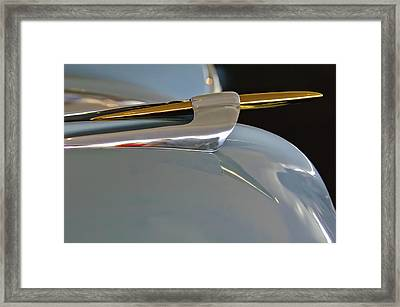 1953 Lincoln Capri Hood Ornament 2 Framed Print by Jill Reger