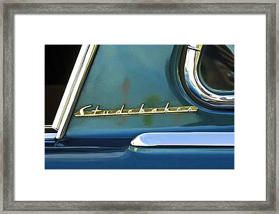 1953 Studebaker Champion Starliner Abstract Framed Print by Jill Reger