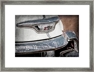 1954 Chevrolet Panel Truck Grille Emblem -1301ac Framed Print by Jill Reger