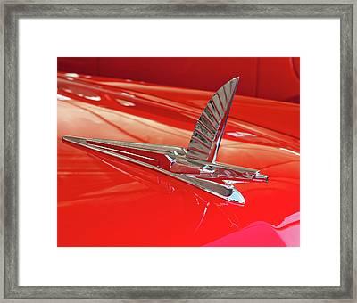 1954 Ford Cresline Sunliner Hood Ornament 2 Framed Print by Jill Reger