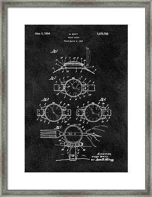 1954 Wrist Watch Patent Framed Print by Dan Sproul