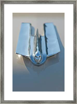 1955 Cadillac Coupe Hood Ornament Framed Print by Jill Reger