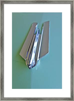1955 Cadillac Fleetwood Sedan Hood Ornament Framed Print by Jill Reger