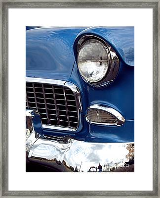 1955 Chevy Front End Framed Print by Anna Lisa Yoder