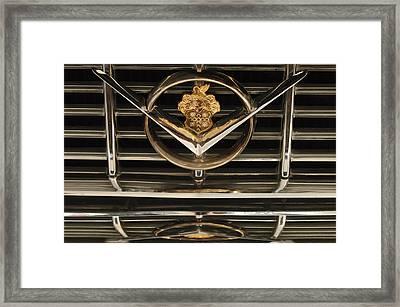 1955 Packard Hood Ornament Emblem Framed Print by Jill Reger