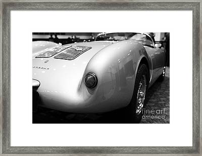 1955 Porsche 550 Rs Spyder . Black And White Photograph . 7d9453 Framed Print by Wingsdomain Art and Photography