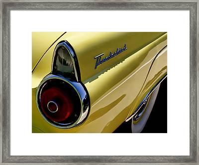 1955 T-bird Tail   Framed Print by Douglas Pittman