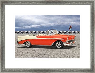 1956 Chevrolet Belair Convertible Framed Print by Mike McGlothlen