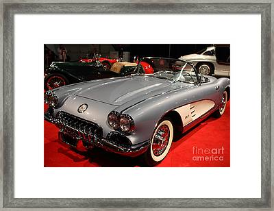 1956 Chevy Corvette Convertible . Front Angle Framed Print by Wingsdomain Art and Photography